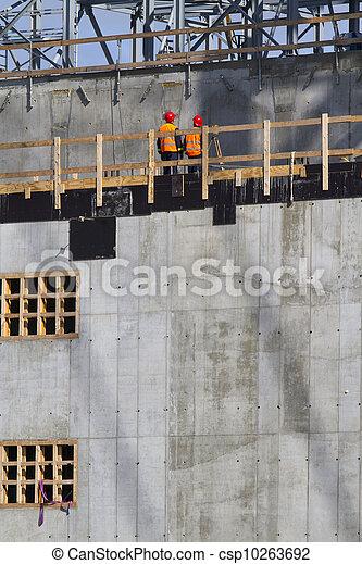 ouvriers, construction - csp10263692