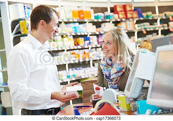 ouvriers, pharmacie, chimiste, pharmacie - csp17366073