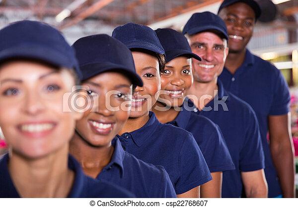 ouvriers textile, groupe, équipe - csp22768607