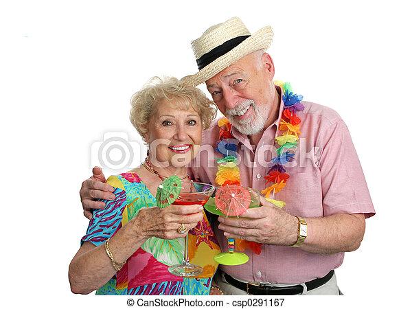 ouwetjes, vakantie, cocktails - csp0291167