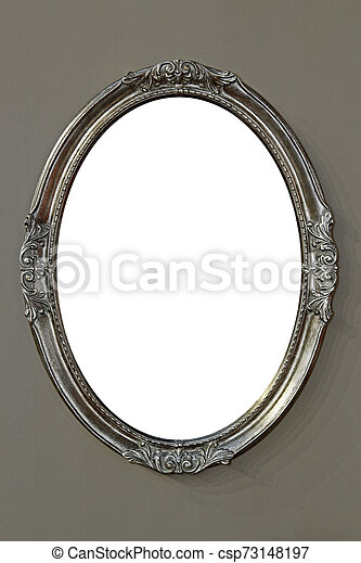 Oval Frame Decorative Oval Mirror Frame Hanging On Wall