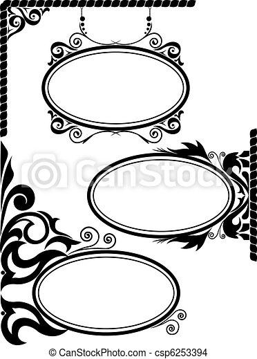 Oval frames - csp6253394
