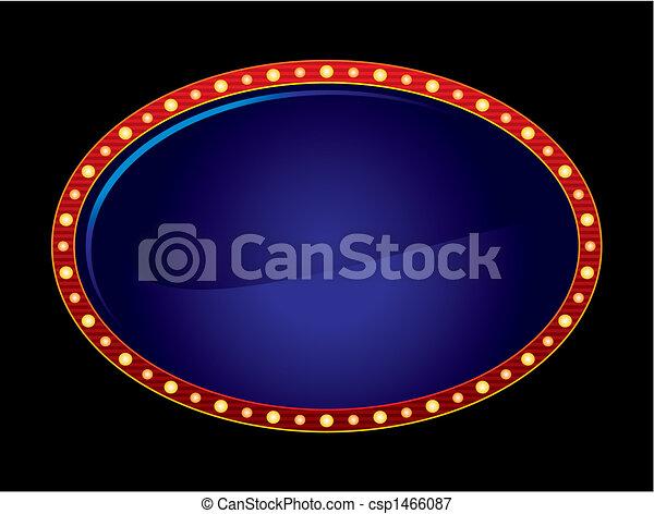 Oval neon - csp1466087