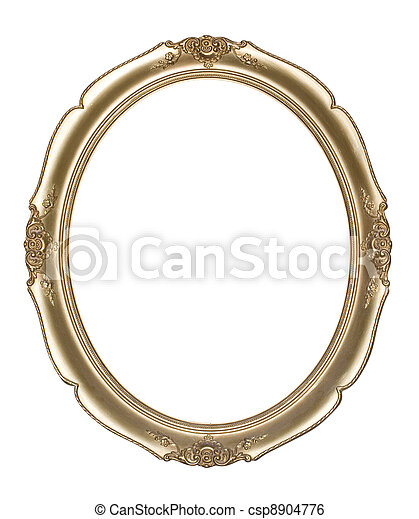 Oval photo frame (Clipping path!) - csp8904776