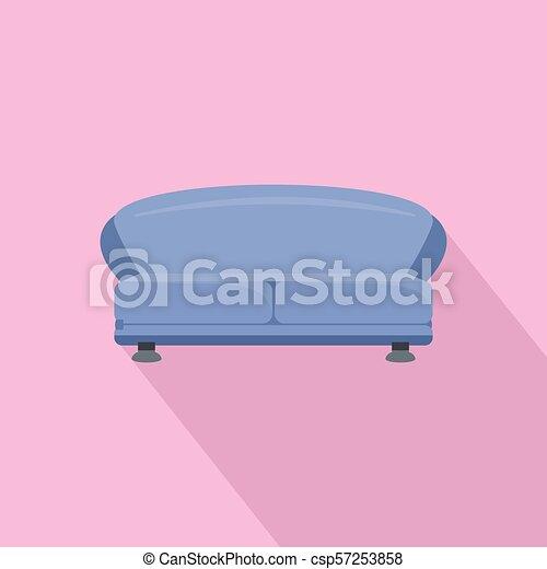 oval, sofá, ícone, estilo, apartamento - csp57253858