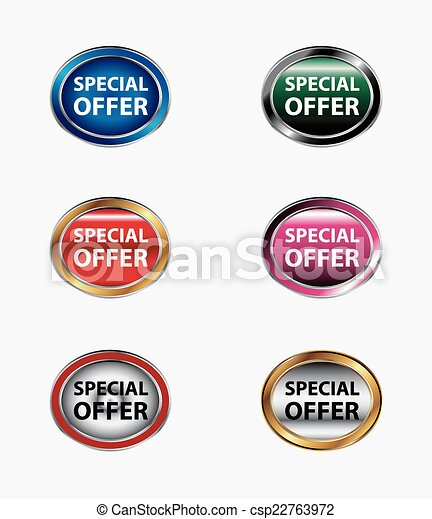 Oval special offer button - csp22763972