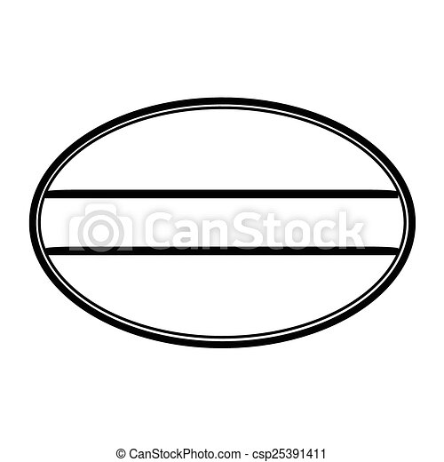 Oval stamp - csp25391411