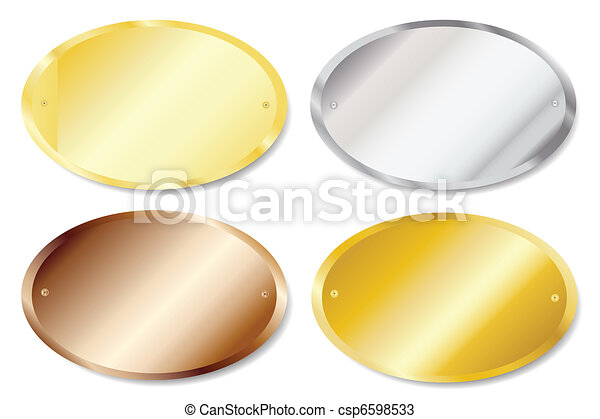 oval, tür, tafeln - csp6598533