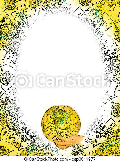Oval World Frame - csp0011977