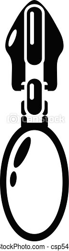 Oval zip icon, simple style - csp54392783