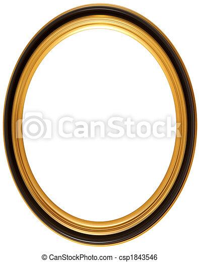 ovale, anticaglia, cornice, immagine - csp1843546