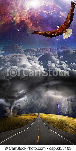 ovanför, oväder - csp6358103