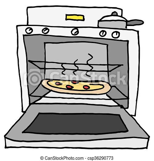 oven baked pizza an image of a pizza baking in oven vectors rh canstockphoto com oven clipart png oven clipart png
