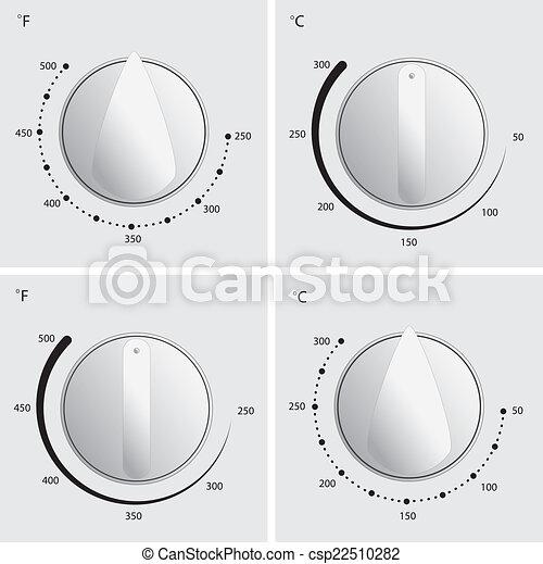 Oven Dial Vector - csp22510282