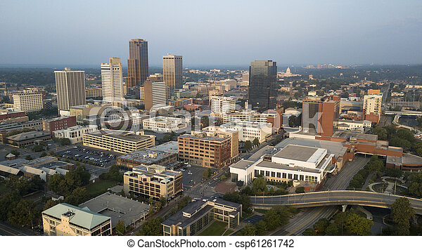 Over the Downtown City Center Skyline of Little Rock Arkansas State Capitol - csp61261742