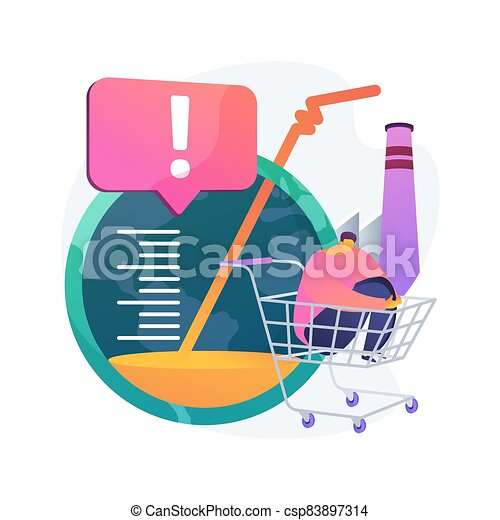 Overconsumption abstract concept vector illustration. - csp83897314