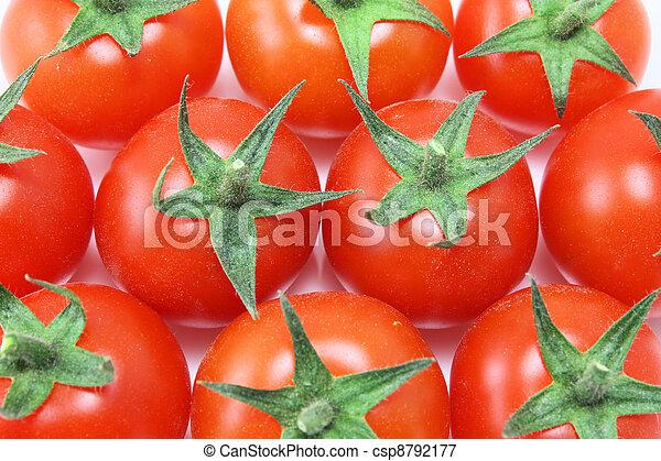 Overhead of baby tomatoes - csp8792177