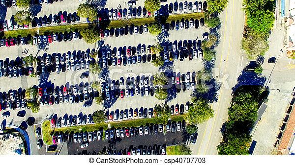 Overhead view of Car Parking outdoor - csp40707703