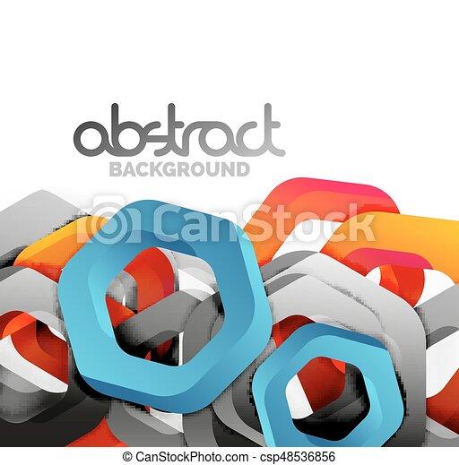 Overlapping hexagons design background - csp48536856