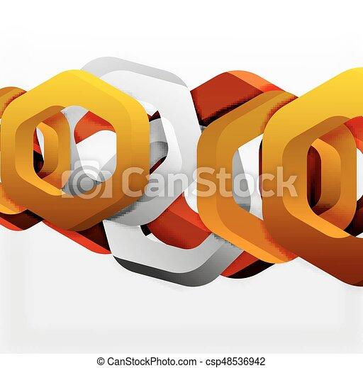 Overlapping hexagons design background - csp48536942