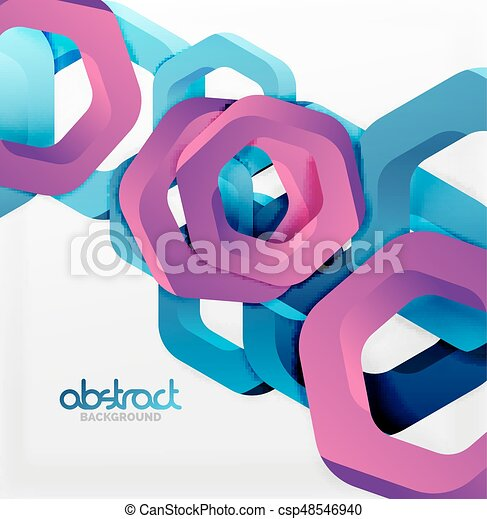 Overlapping hexagons design background - csp48546940