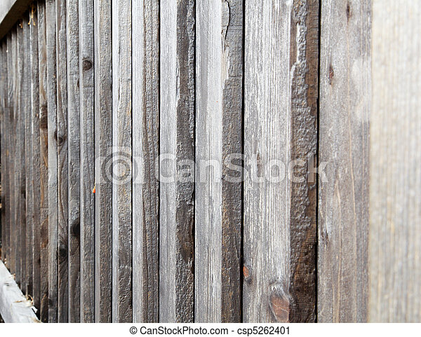 Overlapping Redwood fence - csp5262401