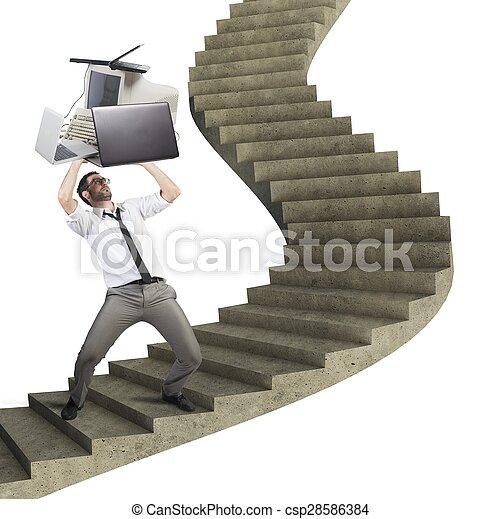 Overload businessman - csp28586384