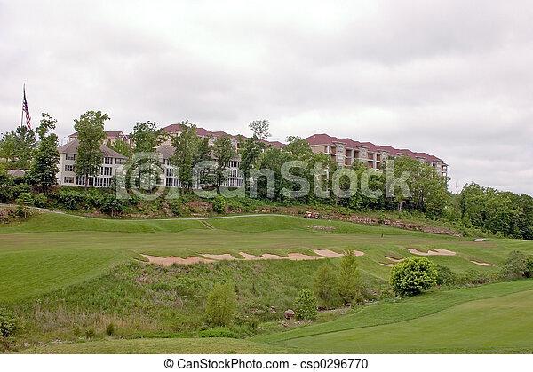 Overlooking the golf - csp0296770