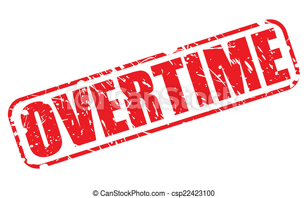 Overtime red stamp text - csp22423100