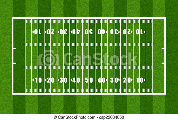 Overview Of American Football Field Showing Yard Lines
