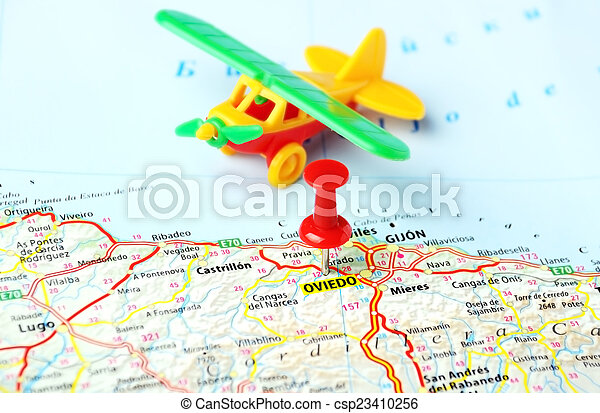 Map Of Spain Oviedo.Oviedo Spain Map Airplane