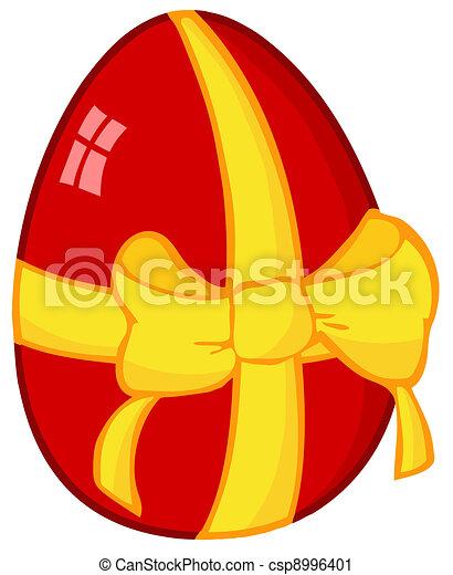 ovo páscoa, vermelho - csp8996401