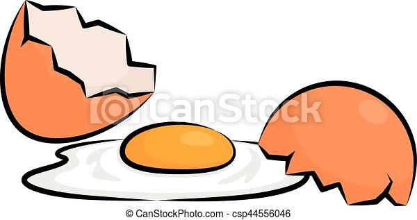 ovo quebrado quebrada vetorial ovo ilustração