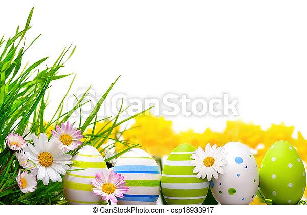 ovos, páscoa, arranjo - csp18933917