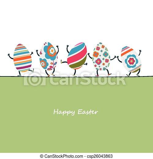 ovos, páscoa, caráteres - csp26043863