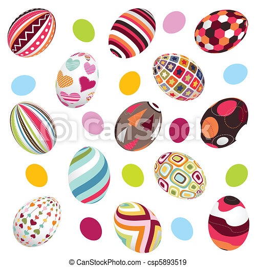 ovos, páscoa, fundo - csp5893519