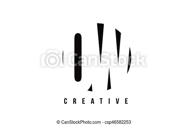 Ow O W White Letter Logo Design With Circle Background Ow O W White