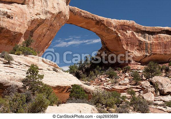 Owachomo Bridge in Natural Bridges National Monument, Utah - csp2693689