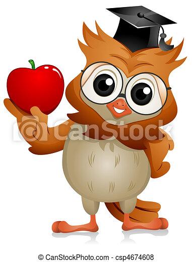Owl Apple - csp4674608