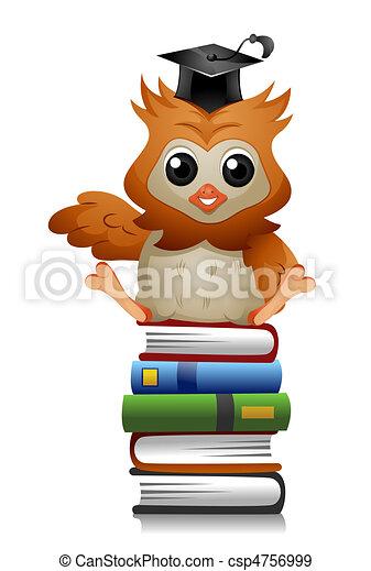 Owl Books - csp4756999