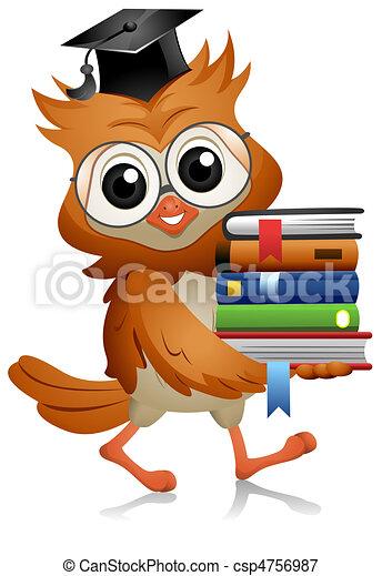 Owl Books - csp4756987