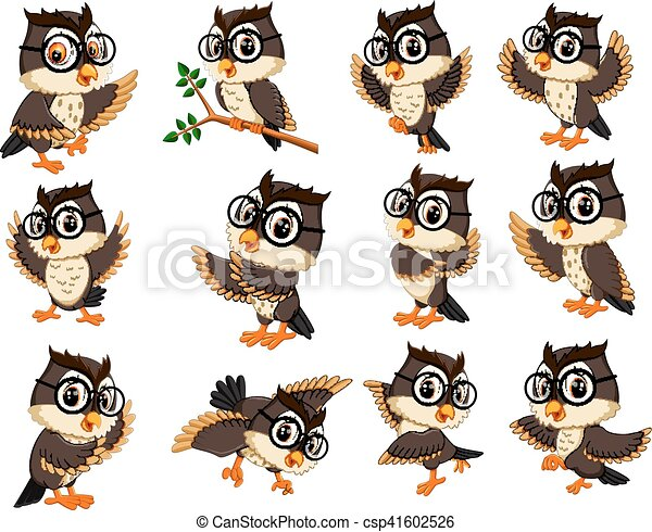 owl cartoon - csp41602526