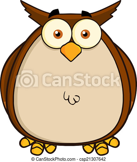 Owl Cartoon Mascot Character - csp21307642