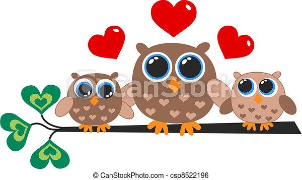 owl family - csp8522196