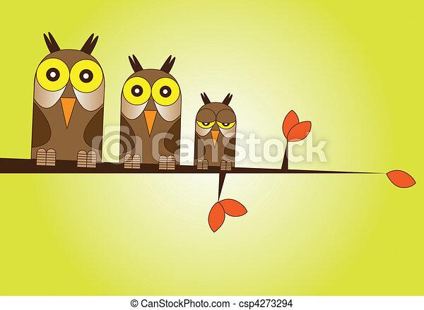 Owl Family - csp4273294