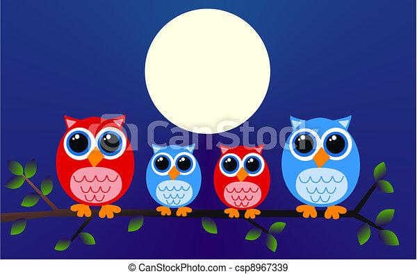 owl family - csp8967339