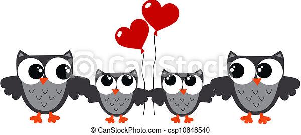 owl family - csp10848540