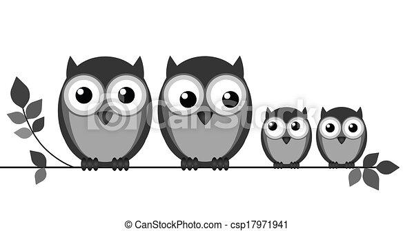Owl Family - csp17971941