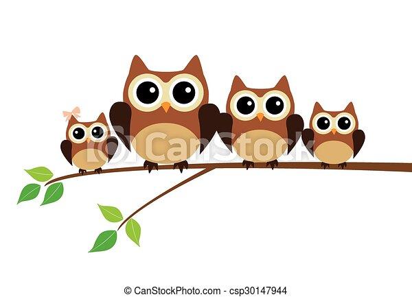 owl family  - csp30147944