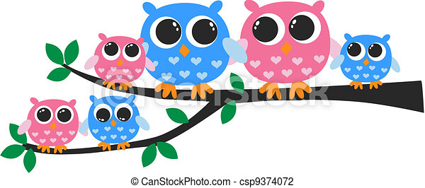 owl family vector illustration search clipart drawings and eps rh canstockphoto com Owl Family Clip Art Black and White Owl Family Clip Art Black and White